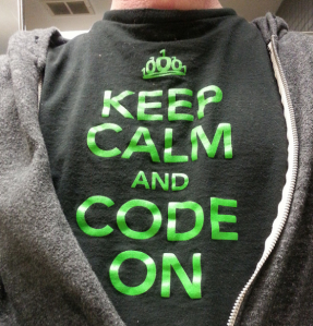 Keep calm and code on tshirt